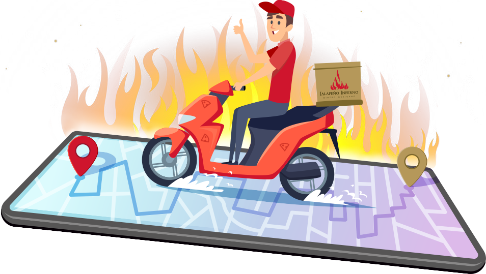 Order Jalapeno Inferno from Doordash and Grubhub