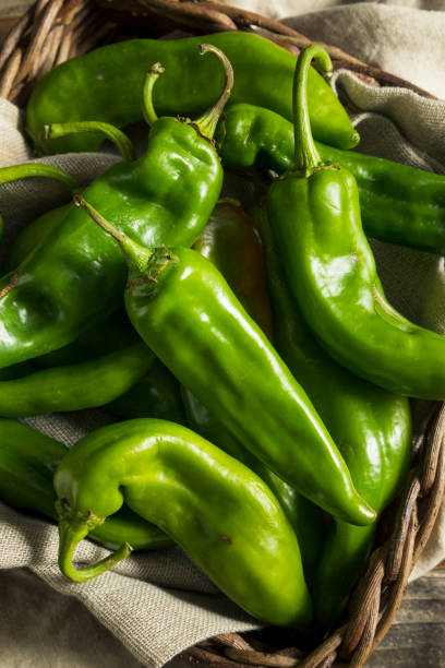 Jalapeno Inferno Mexican restaurant in Scottsdale and Peoria Arizona showing hatch green chilies in a basket